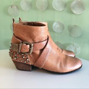 Vince Camuto Leather Studded Strappy Ankle Boots